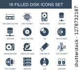 disk icons. trendy 16 disk...