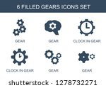 6 gears icons. trendy gears...   Shutterstock .eps vector #1278732271