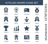 award icons. trendy 16 award... | Shutterstock .eps vector #1278732301
