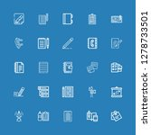 editable 25 notepad icons for...   Shutterstock .eps vector #1278733501