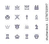 Editable 16 King Icons For Web...