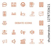 editable 22 debate icons for... | Shutterstock .eps vector #1278733621