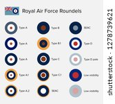 royal air force roundel insignia | Shutterstock .eps vector #1278739621