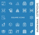 editable 22 square icons for... | Shutterstock .eps vector #1278742141