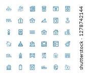editable 36 residential icons... | Shutterstock .eps vector #1278742144