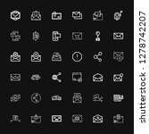 editable 36 receive icons for... | Shutterstock .eps vector #1278742207