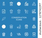 editable 22 conservation icons... | Shutterstock .eps vector #1278742297