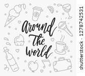 around the world. typographical ... | Shutterstock .eps vector #1278742531