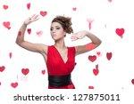 young happy smiling caucasian... | Shutterstock . vector #127875011