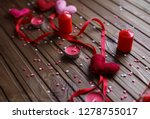 red  white  pink heart shaped... | Shutterstock . vector #1278755017