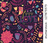 "floral texture. ""love"" pattern... 