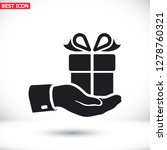 pictograph of gift icon. vector ... | Shutterstock .eps vector #1278760321