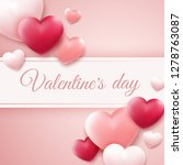 valentines day background with... | Shutterstock .eps vector #1278763087
