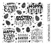 vector hand written easter... | Shutterstock .eps vector #1278768331