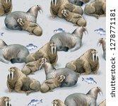 seamless watercolor pattern... | Shutterstock . vector #1278771181