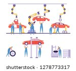 car production factory... | Shutterstock .eps vector #1278773317