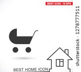 pram vector icon | Shutterstock .eps vector #1278777511
