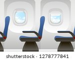 airplane cabin with passenger... | Shutterstock .eps vector #1278777841
