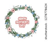 happy mothers day lettering... | Shutterstock .eps vector #1278778624