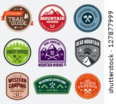 arrow,axe,badge,banner,boy scout,camp,campfire,classic,design,design element,emblem,expedition,exploration,explore,fire