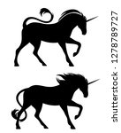 running unicorn horses black... | Shutterstock .eps vector #1278789727