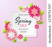spring sale banner with... | Shutterstock .eps vector #1278791707