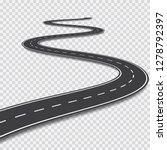 long winding road.... | Shutterstock .eps vector #1278792397