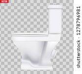 ceramic toilet classic model.... | Shutterstock .eps vector #1278796981