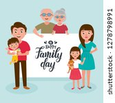 big happy family portrait. set... | Shutterstock .eps vector #1278798991