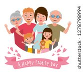 big happy family portrait. set... | Shutterstock .eps vector #1278798994