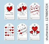 vector valentine's day cards... | Shutterstock .eps vector #1278809224