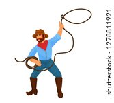 character cowboy sheriff man... | Shutterstock .eps vector #1278811921