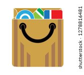 shopping bag icon sale sign... | Shutterstock .eps vector #1278816481
