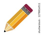 vector pencil icon school... | Shutterstock .eps vector #1278816511