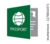 travel passport icon flight... | Shutterstock .eps vector #1278816571