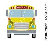 school bus icon  transportation ... | Shutterstock .eps vector #1278816574