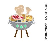bbq grill icon barbecue sign... | Shutterstock .eps vector #1278816601