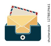 web mail icon message sign... | Shutterstock .eps vector #1278819661