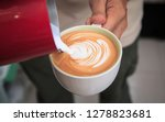 barista make latte art. cup of... | Shutterstock . vector #1278823681