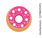 doughnuts cake icon donut sign... | Shutterstock .eps vector #1278825391