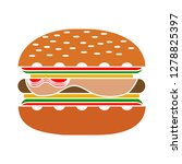 burger sandwich icon  food... | Shutterstock .eps vector #1278825397