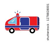 ambulance emergency icon... | Shutterstock .eps vector #1278828001
