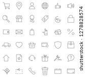 e commerce online shopping line ...   Shutterstock . vector #1278828574