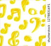 3d cartoon music notes seamless ... | Shutterstock .eps vector #1278831691