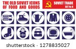 the old soviet icons of food... | Shutterstock .eps vector #1278835027