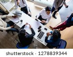 top view of multiracial... | Shutterstock . vector #1278839344