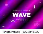 3d distorted wave lines.... | Shutterstock .eps vector #1278841627