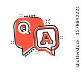 question and answer icon in... | Shutterstock .eps vector #1278842221