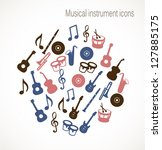 musical icons   Shutterstock .eps vector #127885175