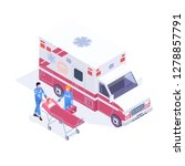 accident ambulance aid service... | Shutterstock .eps vector #1278857791